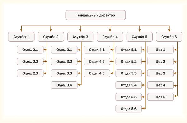 Структурная схема организационной системы управления